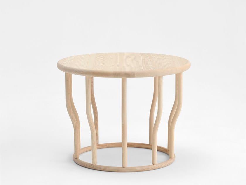 Mesa de centro de café redonda de madeira COSSE | Mesa de centro de madeira by SIPA