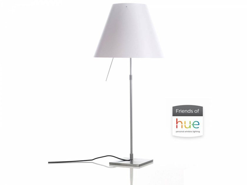 LED polycarbonate table lamp COSTANZA FRIENDS OF HUE | Table lamp by LUCEPLAN