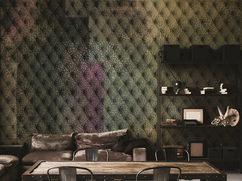 Geometric wallpaper with textile effect COSTURA 2018 by Inkiostro Bianco