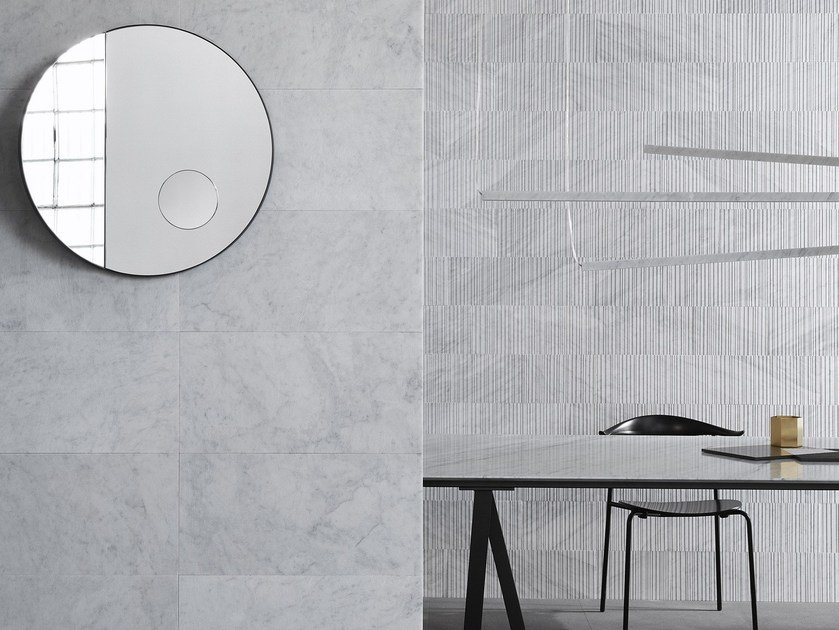 Indoor natural stone wall tiles COTONE by SALVATORI