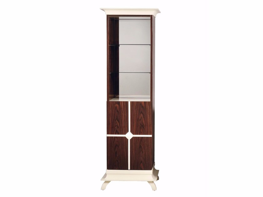 Tall open wooden bathroom cabinet COTTON CLUB ETAGERE by GENTRY HOME