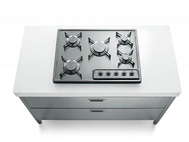 Cucina / piano cottura in acciaio inox COTTURA 130 | Piano cottura ...
