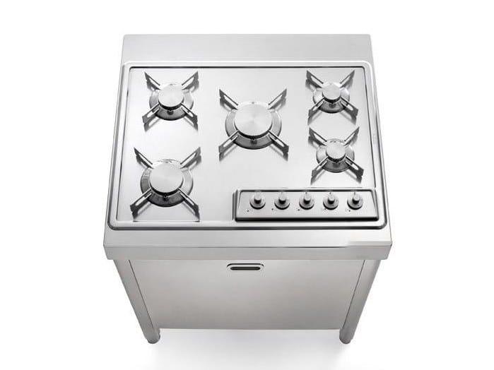 Stainless steel kitchen / hob COTTURA 70 | Kitchen by ALPES-INOX