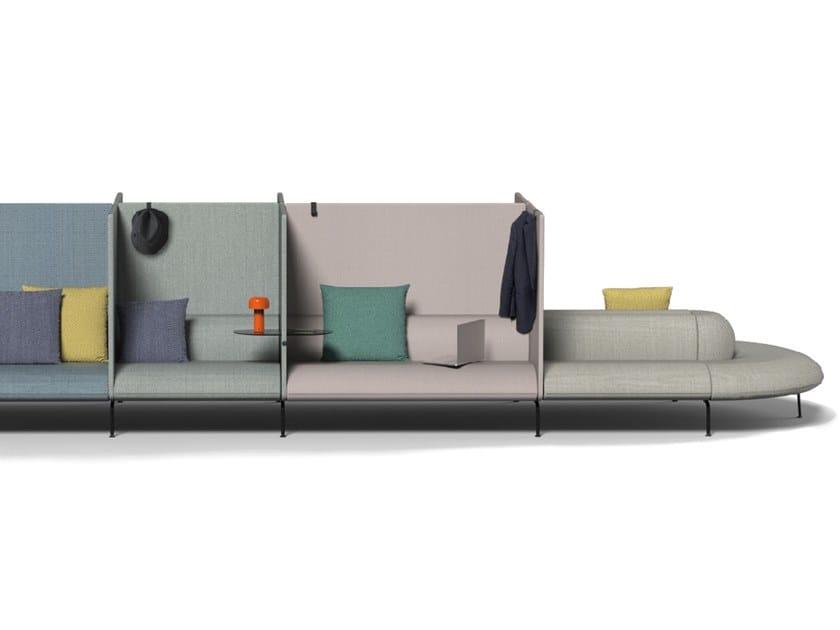 Modular fabric sofa COUCHETTE | Modular sofa by La Cividina