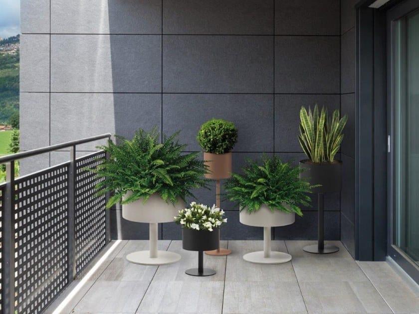 Vaso da giardino in acciaio inox COUNCIL   Vaso da giardino by BLOSS