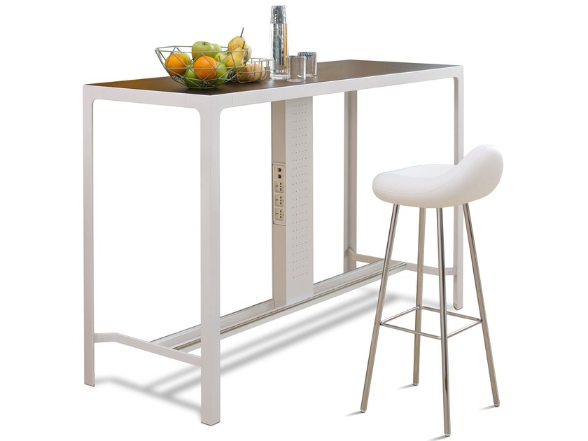 Rectangular metal high table COUNTER by ESTEL GROUP