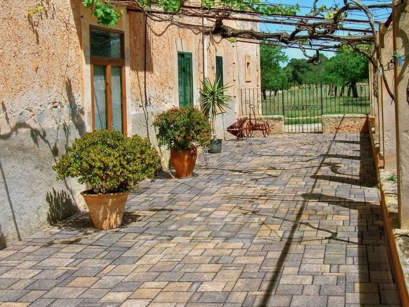 Cement outdoor floor tiles with stone effect COUNTRY ANTICATO by FAVARO1