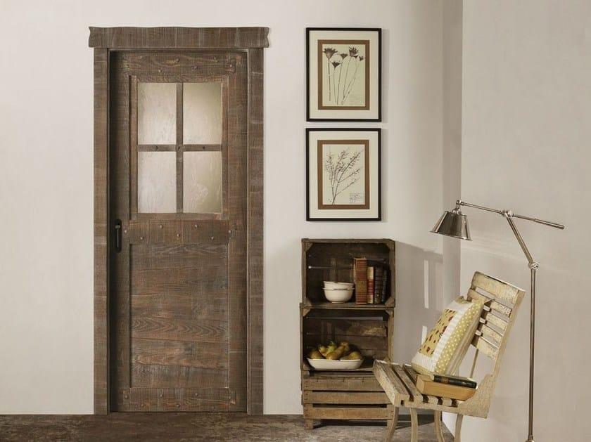 Porte In Legno Massello : Porta in legno massello e vetro country legnoform