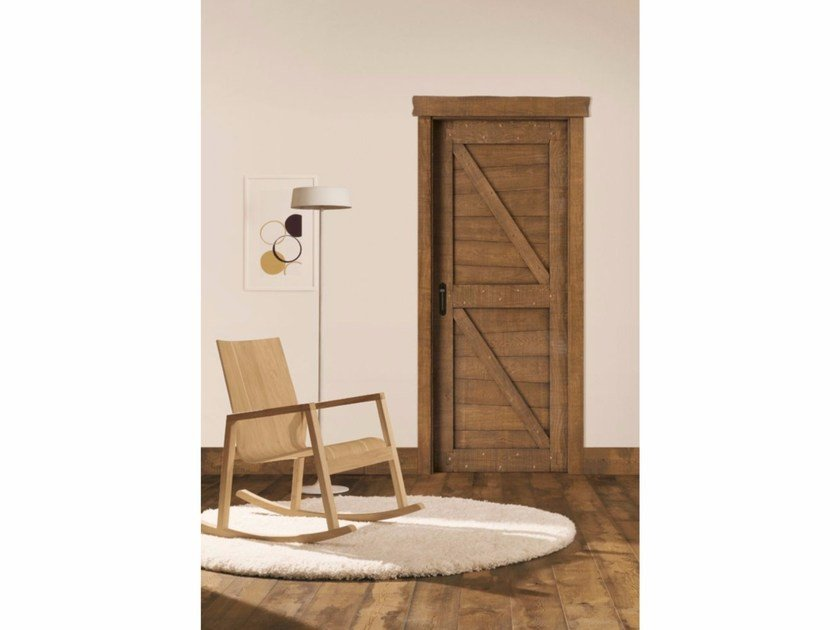 Hinged solid wood door COUNTRY by LEGNOFORM