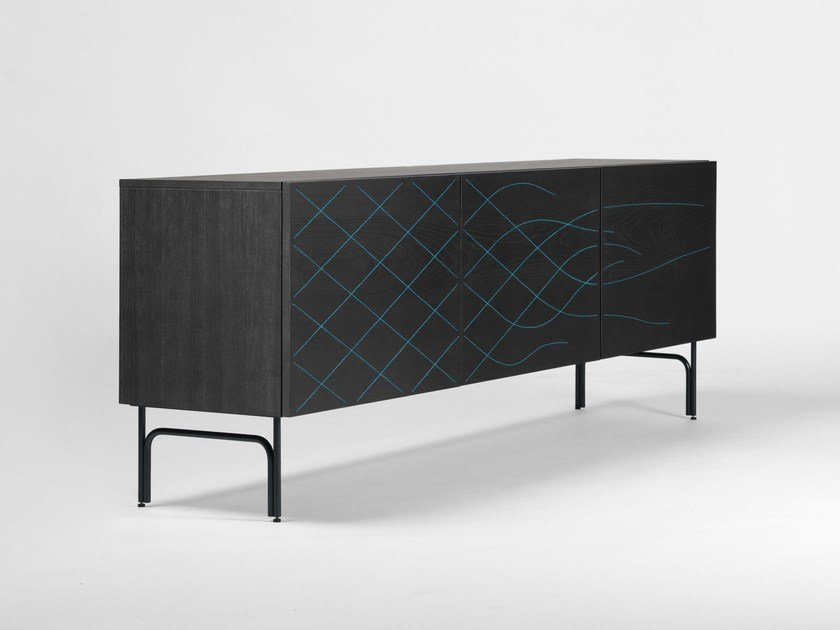 Wooden sideboard with doors COUTURE CABINET by BD Barcelona Design