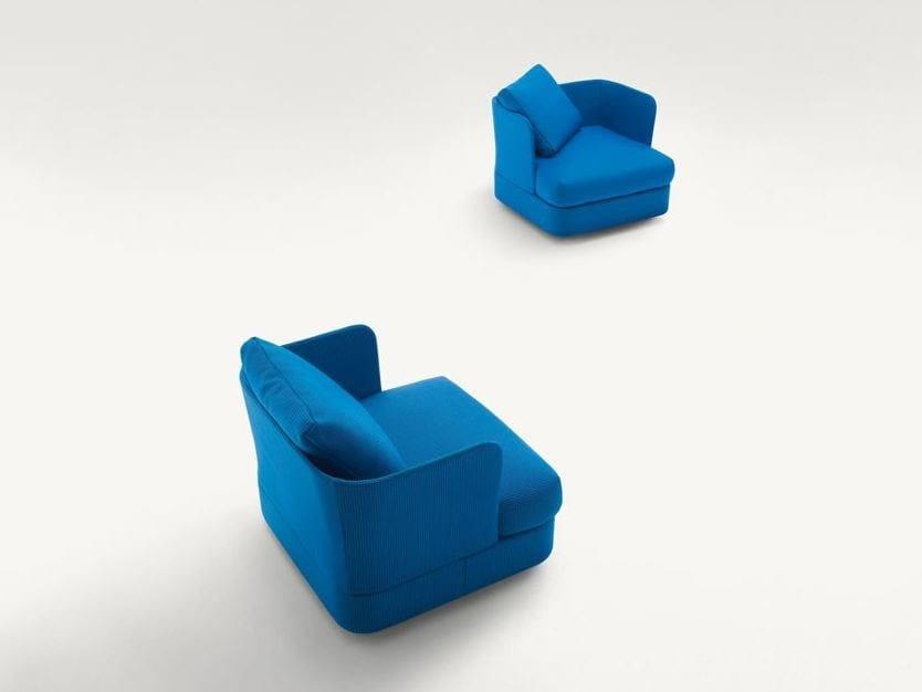 Upholstered garden armchair COVE | Garden armchair by paola lenti