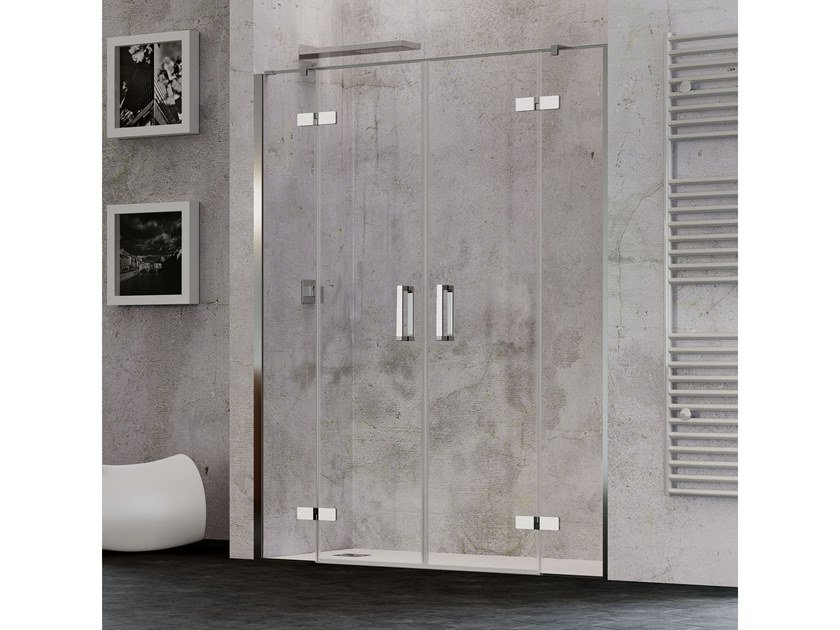 Niche shower cabin with hinged door COVER A2C by RELAX