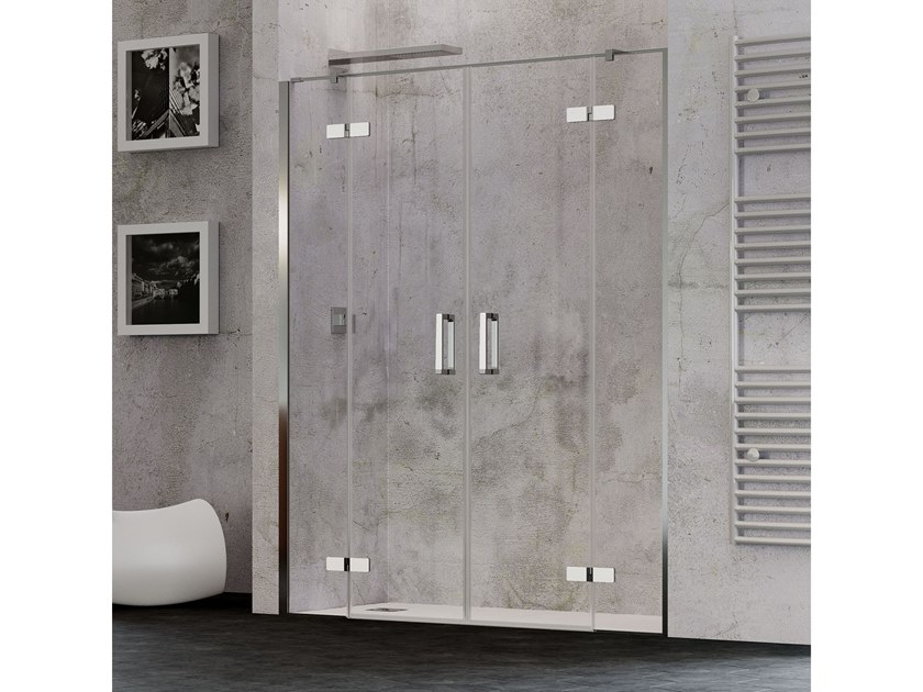 Niche shower cabin with double hinged doors COVER 2AC by RELAX
