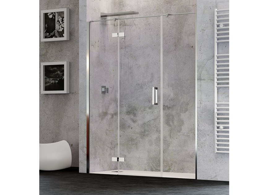 Niche shower cabin with hinged door COVER AC Cover Collection By RELAX