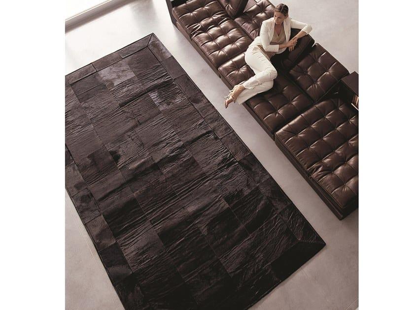Rectangular cowhide rug COW CARPET by Longhi