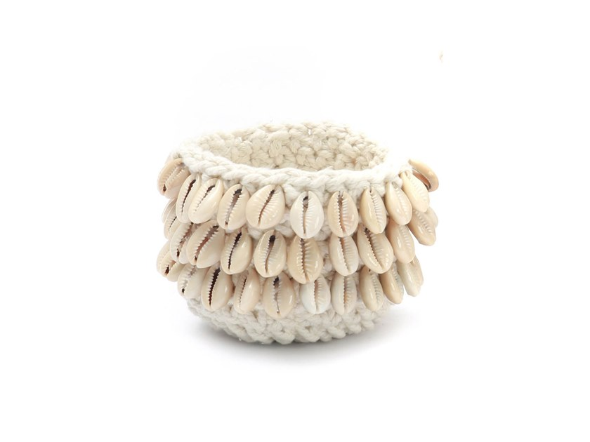 Cotton candle holder COWRIE | Candle holder by Bazar Bizar