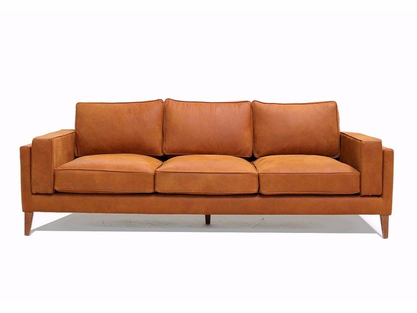 3 seater leather sofa COYOACÁN | 3 seater sofa by Moanne