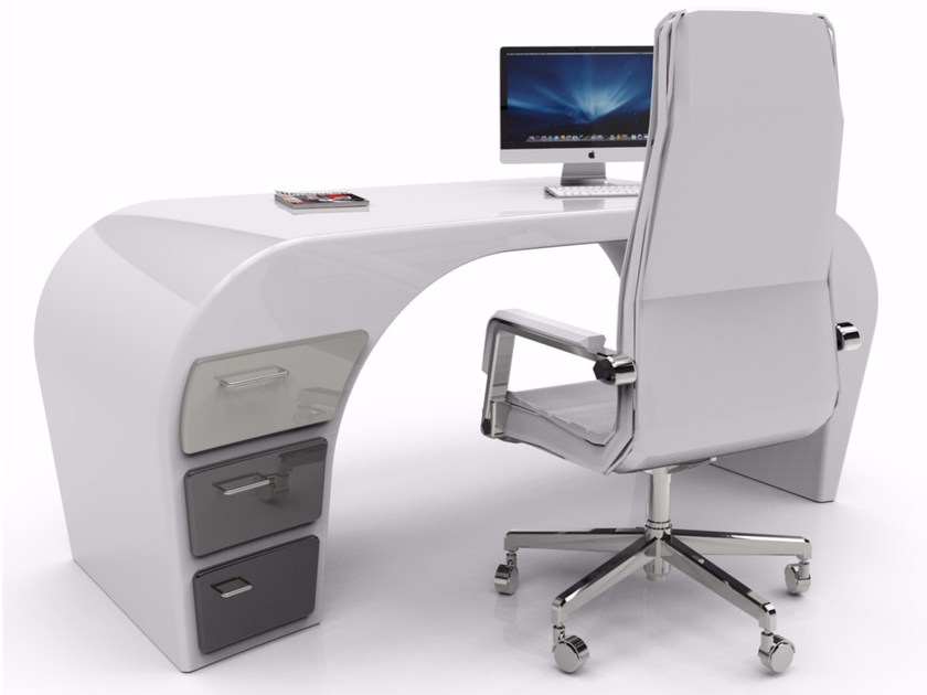 Adamantx® workstation desk with drawers COZY by ZAD ITALY