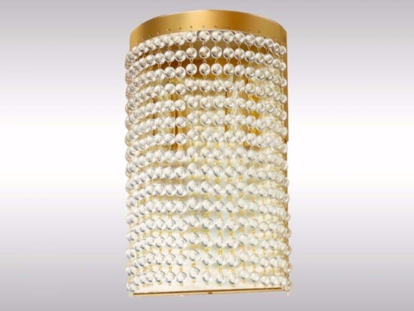 Indirect light brass and glass wall lamp CR4 | Wall lamp by Woka Lamps Vienna