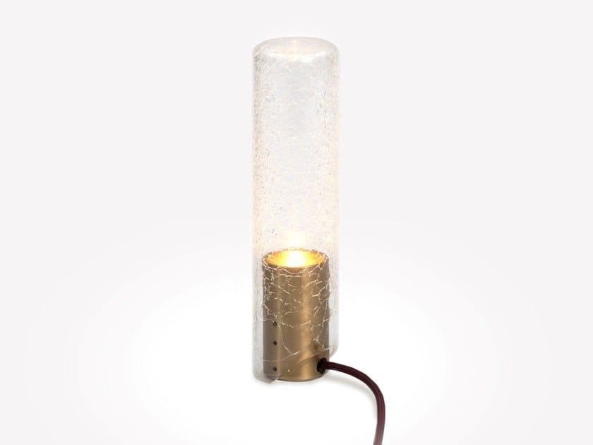 Lampada da tavolo a LED in vetro soffiato CRACKLE LAMP T1 CLEAR CRACKLE by ADesignStudio