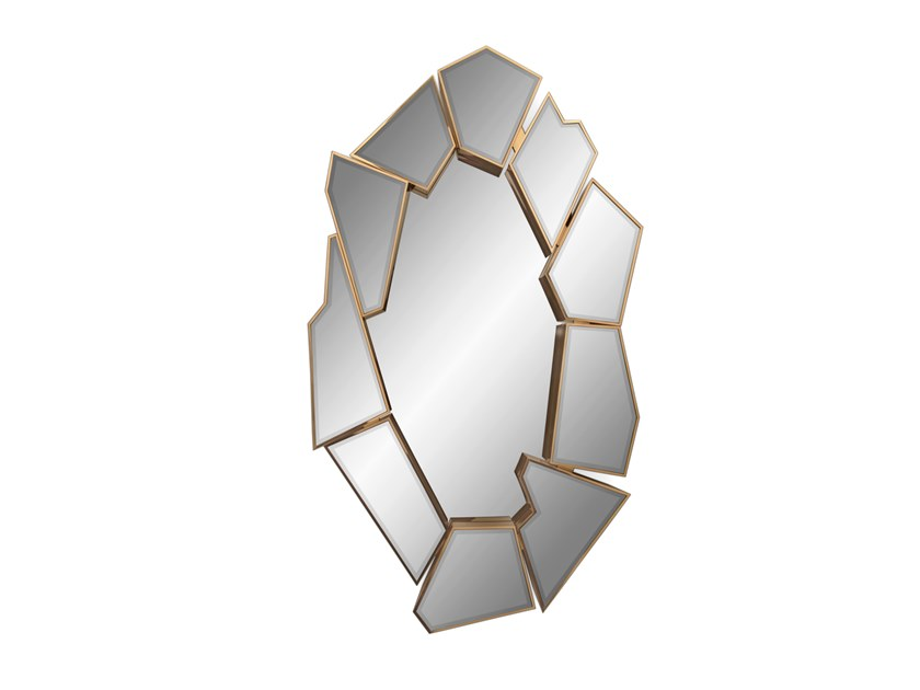 Wall-mounted mirror CRACKLE | Mirror by LUXXU