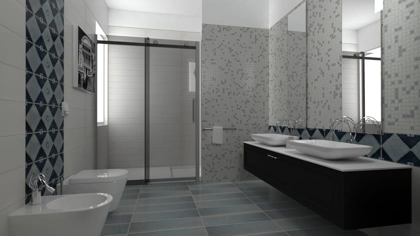 indoor whitepaste wall tiles crakl quadro by acquario due