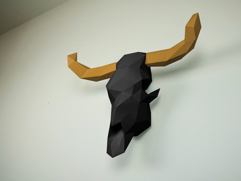 Paper wall decor item COW SCULL by Papertrophy