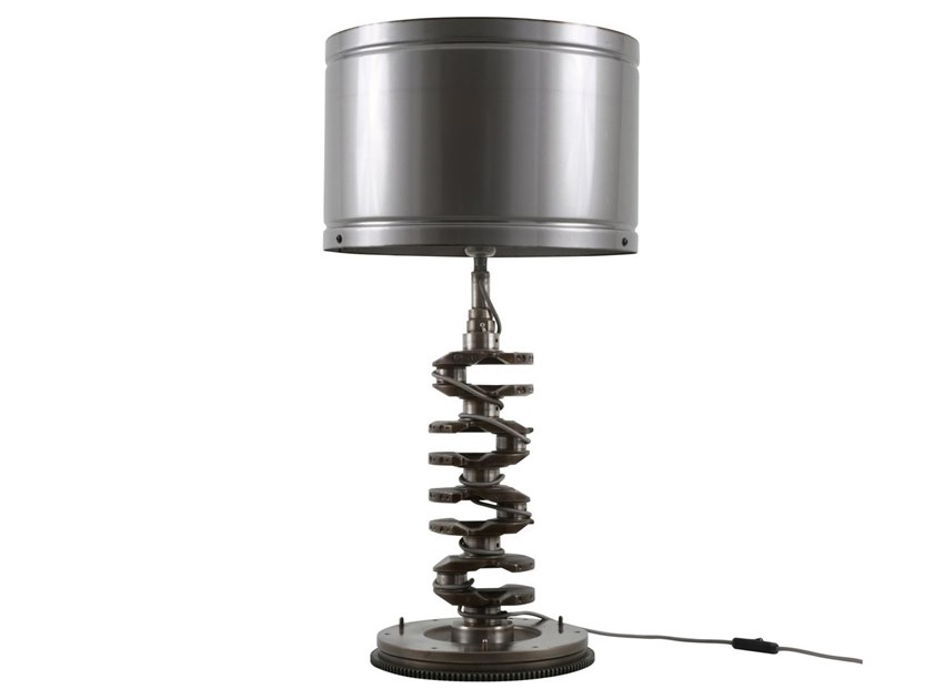 Handmade brass table lamp CRANKSHAFT by Mullan Lighting