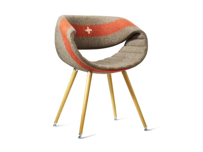 Upholstered fabric chair with armrests CRAZY LITTLE PERILLO | Fabric chair by ZÜCO