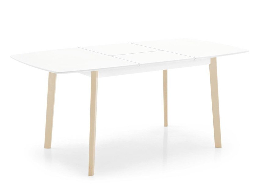 Extending wooden kitchen table CREAM | Rectangular table by Calligaris