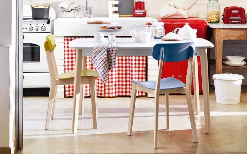 Tavolo allungabile da cucina in legno CREAM | Tavolo rettangolare ...