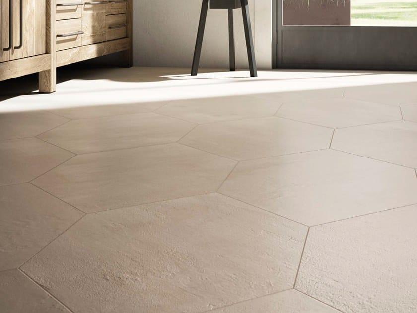 Porcelain stoneware wall/floor tiles with concrete effect CREATIVE CONCRETE B by Ceramica d'Imola
