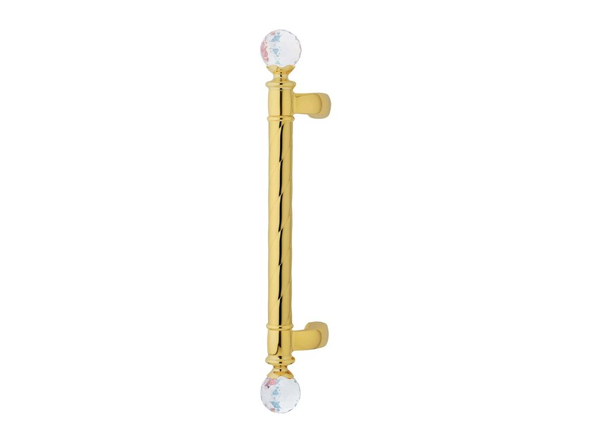 Classic style brass pull handle with Swarovski® Crystals CREATIVE CRYSTAL | Pull handle with Swarovski® Crystals by LINEA CALI'
