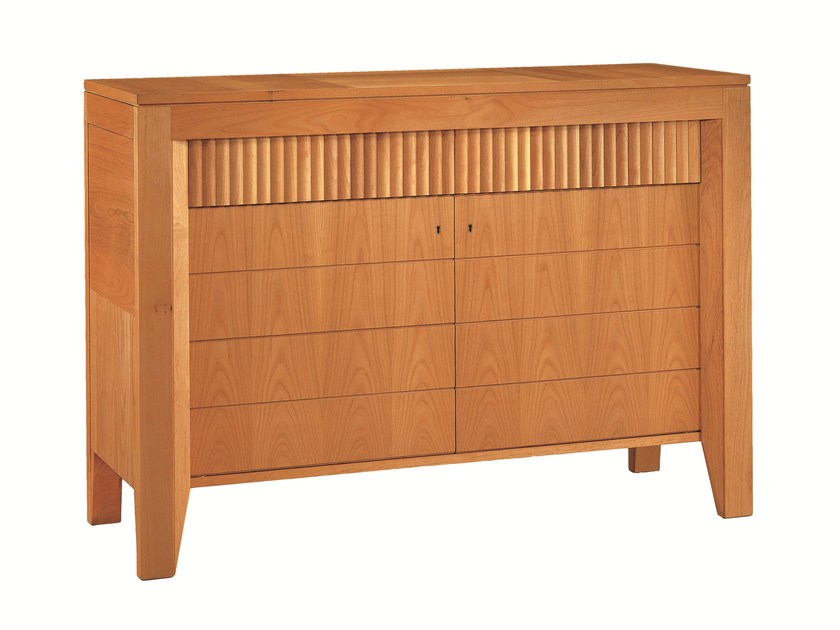 Wooden sideboard with doors SCACCHI | Wooden sideboard by Morelato