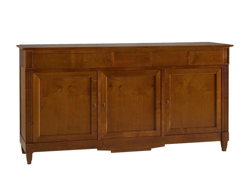 Cherry wood sideboard with doors DIRETTORIO | Sideboard by Morelato