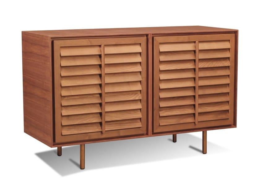 Walnut sideboard with doors PEEKABOO | Sideboard by Morelato
