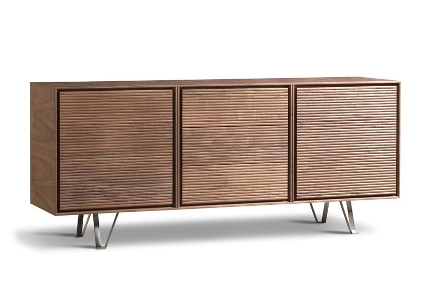 Walnut sideboard with drawers ZERO | Sideboard with drawers by Morelato