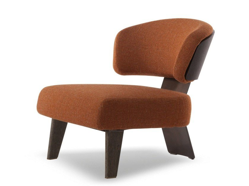 Easy chair CREED WOOD by Minotti