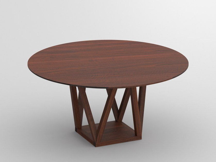 Tavolo Da Pranzo Rotondo : Tavolo da pranzo rotondo in legno massello creo by vitamin design