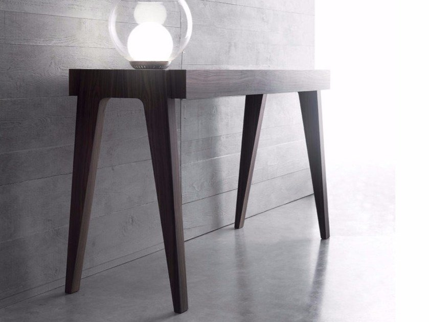 Extending rectangular wooden console table CRESCENDO by Bauline