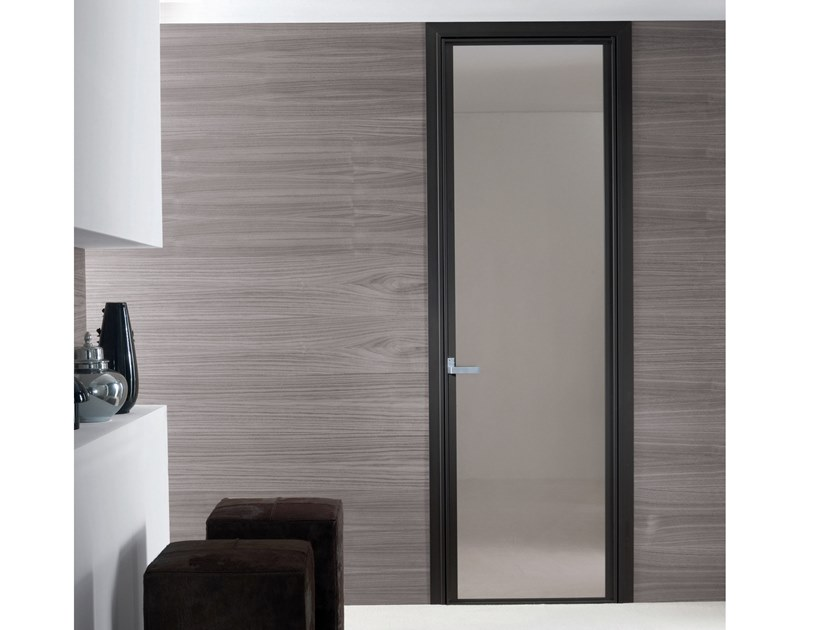 Hinged glass door CRISTAL | Glass door by Longhi
