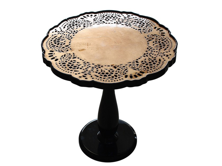 Lacquered round wooden coffee table CROCHET | Coffee table by Malabar