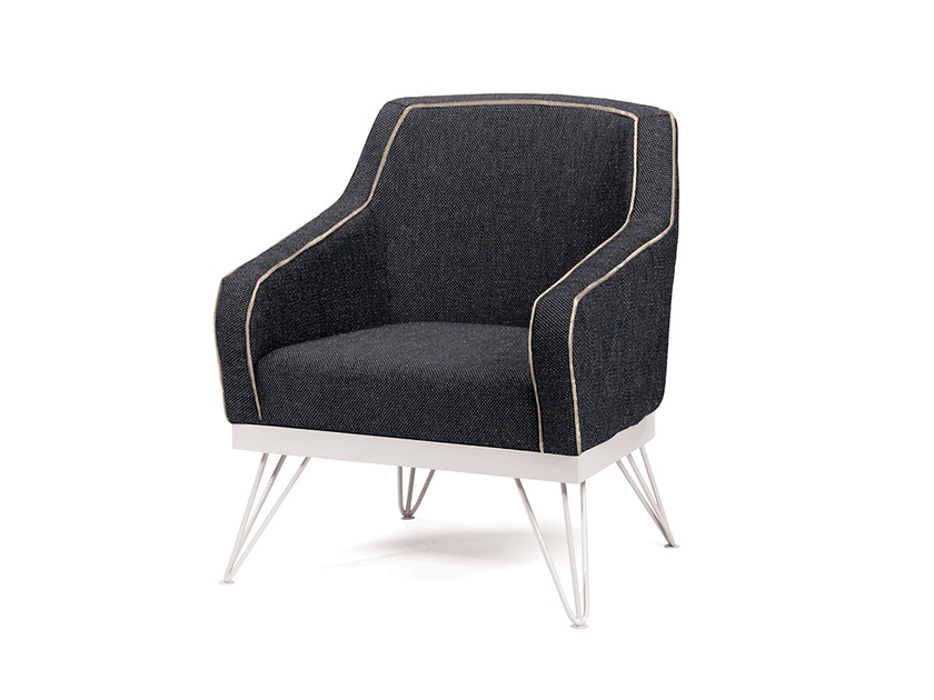 Fabric armchair with armrests CROIX | Armchair by Mambo Unlimited Ideas