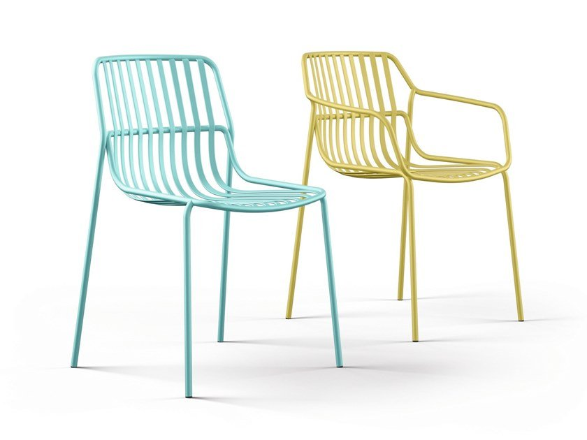 Steel chair for indoor and outdoor CRONA STEEL | Chair by Brunner