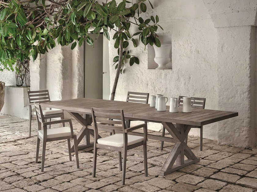 Rectangular teak garden table CRONOS | Rectangular table by Ethimo