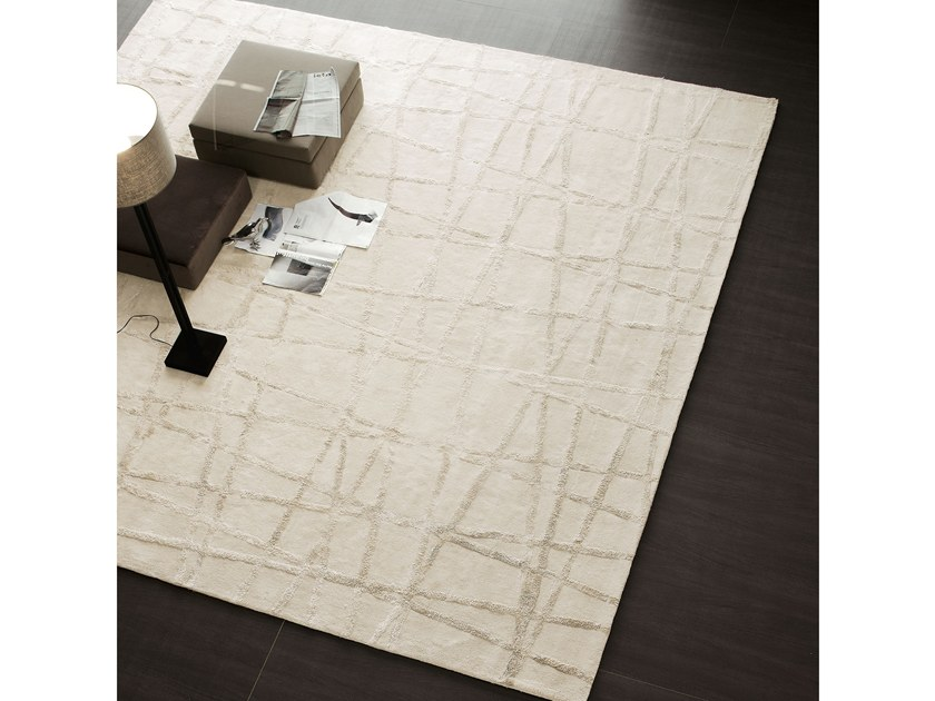 Solid-color rectangular rug CROSS by Adriani e Rossi edizioni