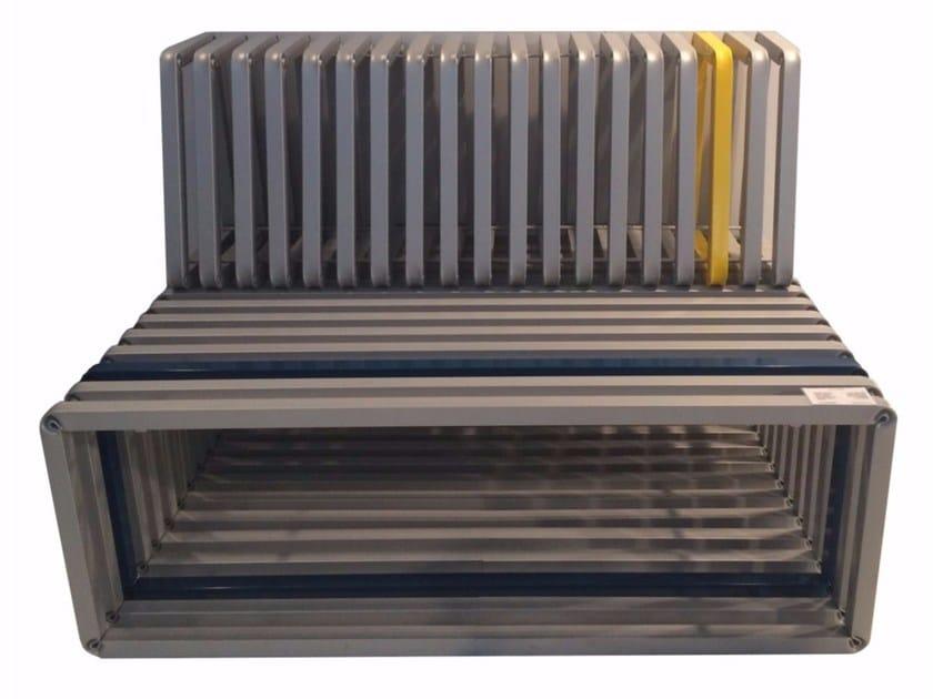 Panchina in acciaio con schienale CROSS by Castellani.it