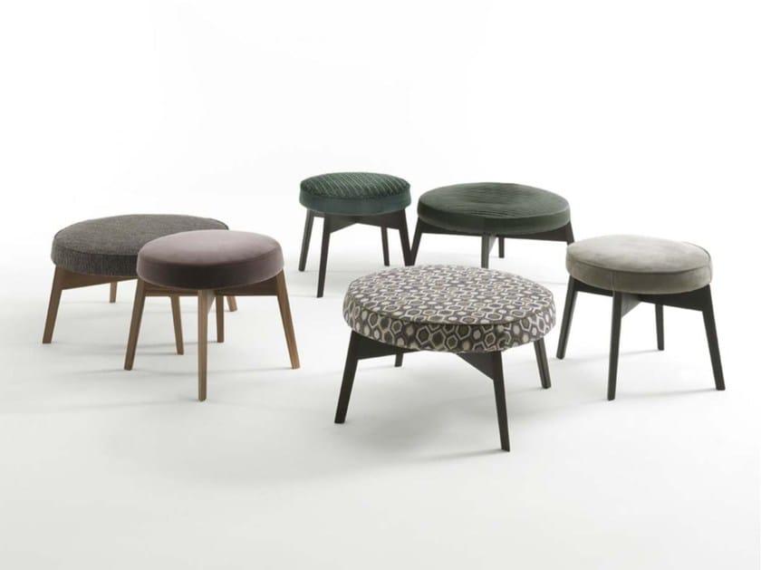 Upholstered fabric pouf CROSS by Frigerio Salotti