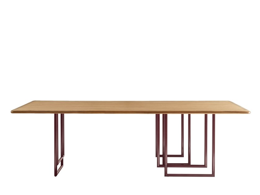 Rectangular dining table CROSS by HC28