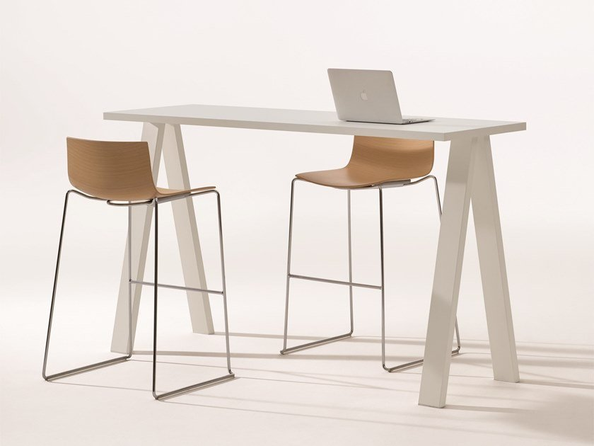 Rectangular Fenix-NTM® high table CROSS | High table by arper